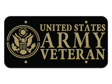 Milspin US Army Veteran Steel Cut License Plate