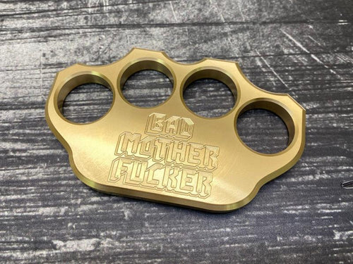 Milspin 3/4lb Bad Mother F*cker Solid Brass Paperweight