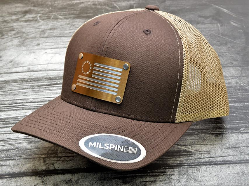 Apparel - Stainless Steal Engraved Insignia For Hats   MILSPIN