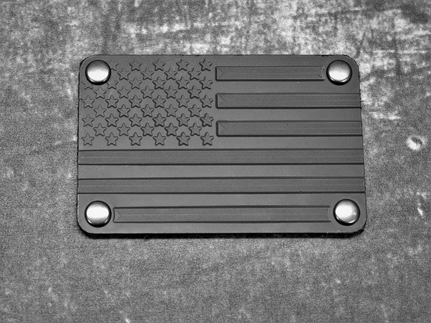 Blacked Out Flag Metal Morale Patch