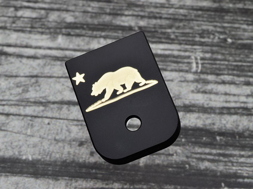 Milspin Custom Engraved California Flag Magazine Base Plate