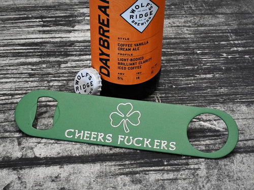 Milspin Cheers F*ckers Shamrock Bar Key Bottle Opener