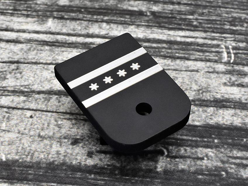 Milspin Chicago Flag Glock Magazine Base Plate