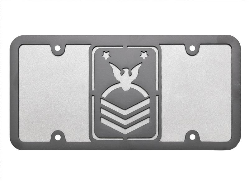 Milspin Chief Petty Officer Steel Cut License Plate