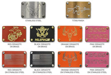 Milspin USMC Custom Engraved Metal Morale Patch (Select 1 Emblem)