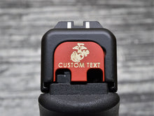 Personalized USMC Slide Back Plate