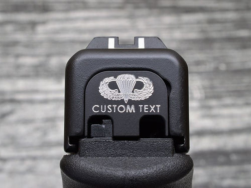Personalized Jump Wings Slide Back Plate