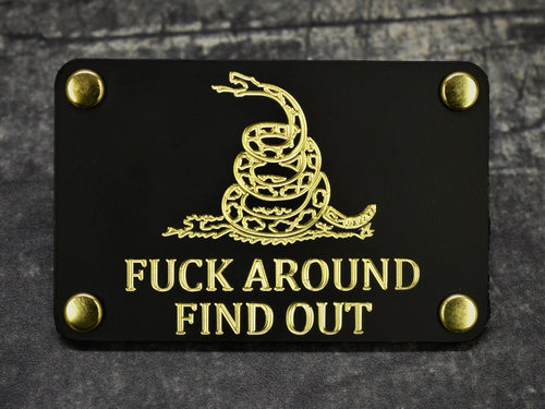 Milspin F*ck Around Find Out Metal Morale Patch