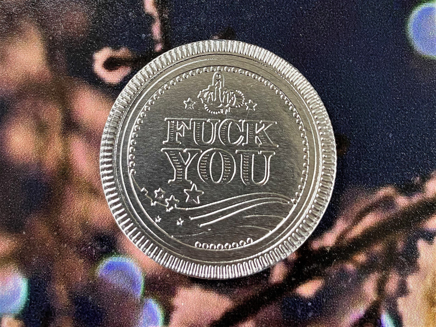 Milspin F*ck You Chocolate Coin (Bag of 10 Coins)