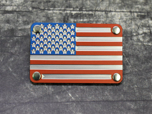 Tri-Color American Flag Metal Morale Patch