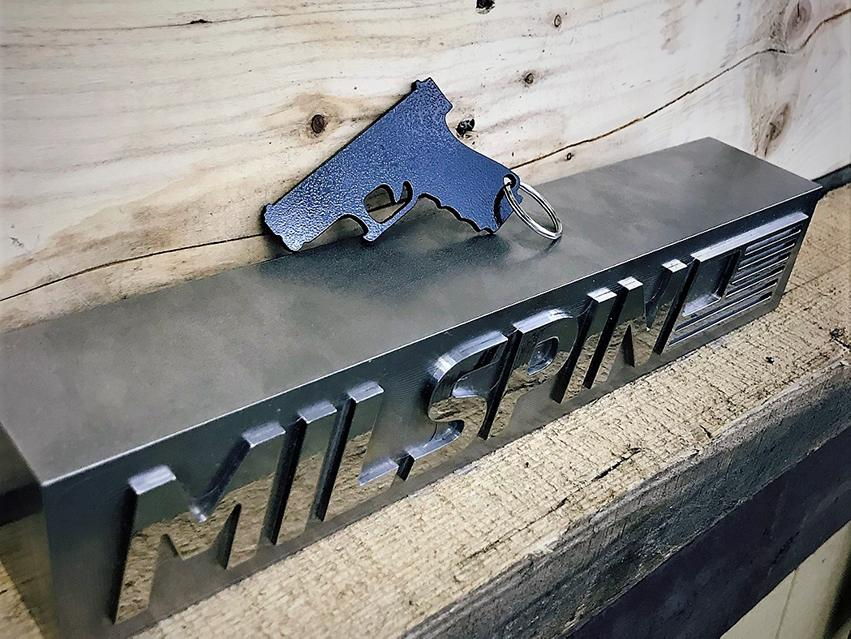 MILSPIN custom designed bottle opener