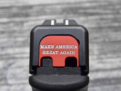 Milspin Custom Engraved Make America Great Again Slide Back Plate