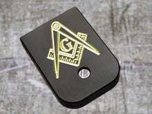 custom engraved glock back plates with Masonic insignia