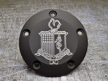 engraved Harley Davidson points covers with custom insignia