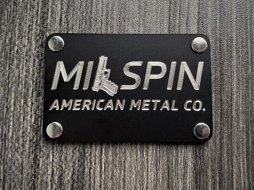 Milspin Handgun Logo Metal Morale Patch