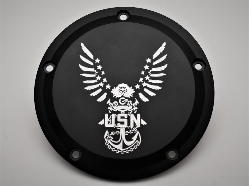 Navy Eagle Harley Davidson Derby Cover