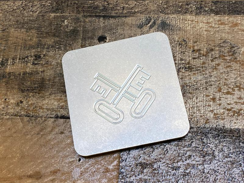 Milspin Up-Armored Navy Logistics Specialist Engraved Stainless Steel Coasters