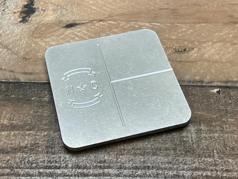 Milspin Up-Armored North Carolina Flag Engraved Stainless Steel Coasters