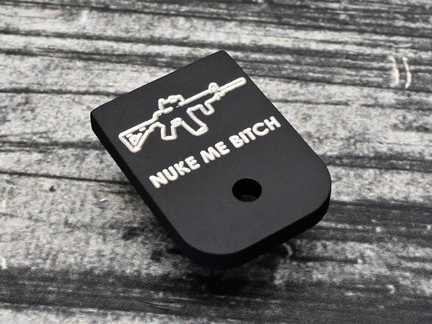 Nuke Me Bitch Glock Magazine Base Plate