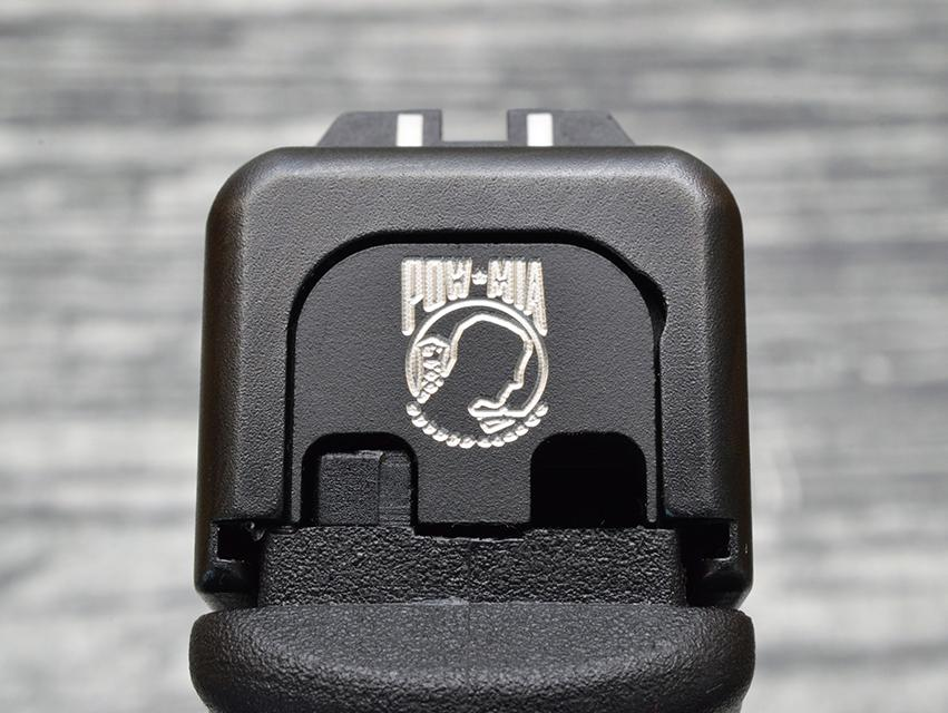 POW/MIA Slide Back Plate