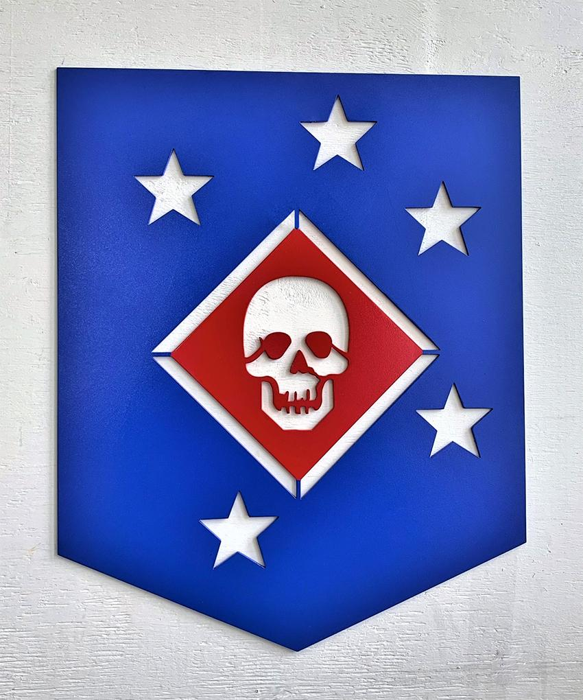 Marine Raider Shield Steel Cut Out