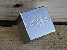Milspin custom engraved Navy stainless steel scotch cubes
