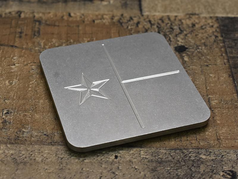 Milspin Up-Armored Texas Flag Engraved Stainless Steel Coasters
