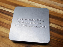 MILSPIN custom engraved drink coasters