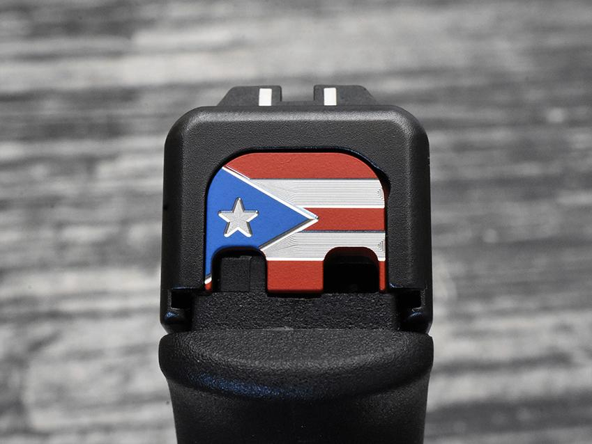 Tri-Color Puerto Rico Flag Slide Back Plate