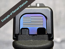 Glock engraved slide plate with insignia
