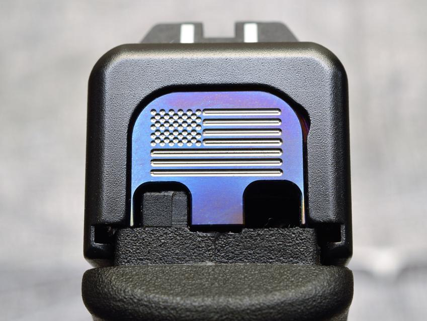 American Flag Slide Back Plate