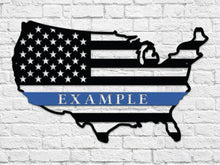 Milspin Custom USA Thin Blue Line Steel Cut Out