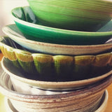 green Japanese ceramics