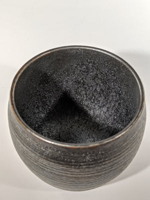 Buy these curvaceous Japanese ceramic tumblers with silver and copper thread glaze from Zenbuhome.com