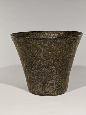 Buy this beautifully rustic Japanese ceramic cup at Zenbuhome.com.  Textural and finished in the colours of iikido, or 'raw soil' with copper highlights. Sourced from an artisan studio and gallery in Okinawa
