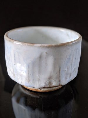 Buy this beautiful handmade Japanese ceramic cup in sparrow's egg blue glaze at zenbuhome.com