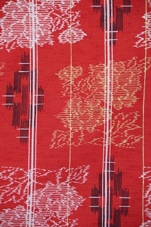 Zenbu Home 'Amaterasu' Vermilion Raw Silk Kimono Elegant Traditional Japanese Fashion Design Buy