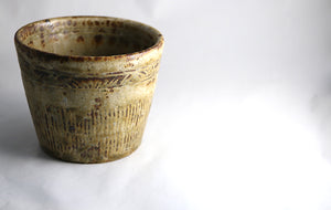 We love the golden hues of our Japanese ceramic 'Field' cup - handmade in Japan and available at ZenbuHome.com