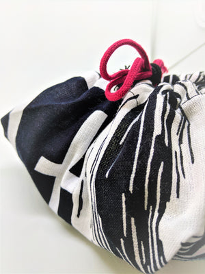 Kyoto designer cotton drawstring bag