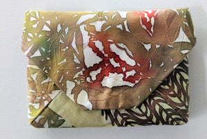 Japanese Hand-painted Silk Clutch Bag