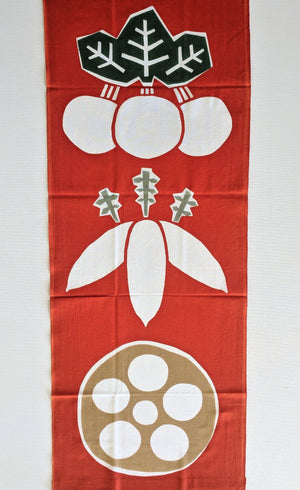 Winter Vegetable Tenugui Cloth