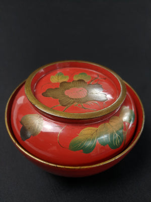 Antique Lacquer Camellia Bowl