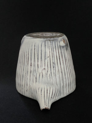 Hand-crafted white, textural Japanese Sake pourer from Zenbu Home zenbuhome.com
