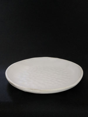 Dimpled Plate with Icing-Glaze