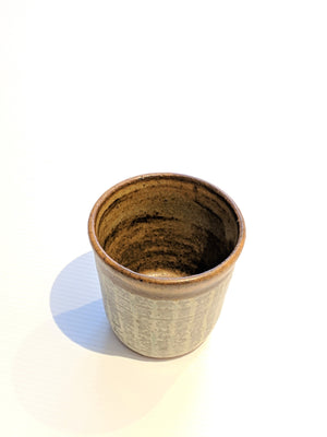 In handsome tones of grey, cream and cafe crema this sweet cup from zenbuhome.com calls out for fine coffee or whiskey