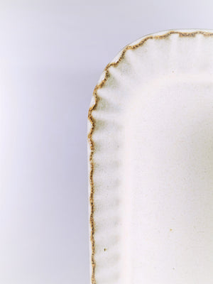 Buy this handmade, milk glazed ceramic tray and other gorgeous Japanese homewares at ZenbuHome.com