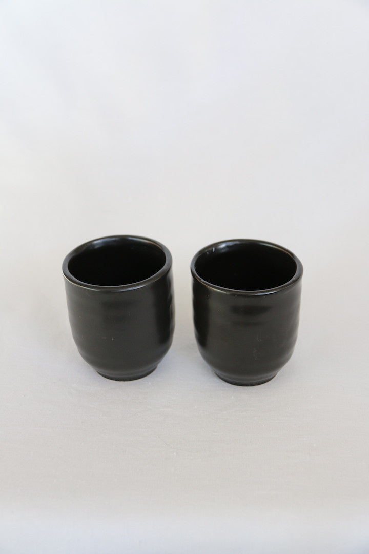 Zenbu Home 'Kuro' pair black coffee tea ceramic cup Japanese Design Buy