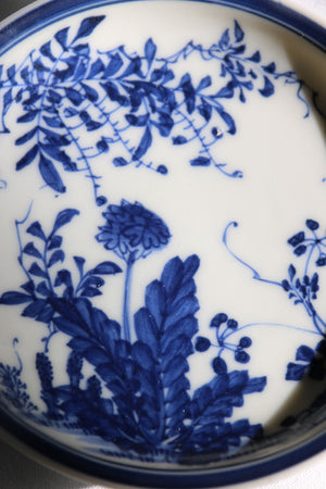 Zenbu Home 'Tampopo' antique Edo Meiji dandelion flowers blue white plate home wares Japan design buy
