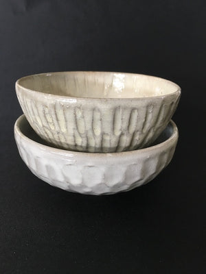 Stitch in time handmade Japanese ceramic bowl from Zenbu Home