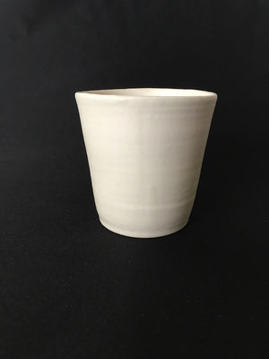 Snow pure, matt milk handmade ceramic cup by Japanese pottery artist from Zenbu Home